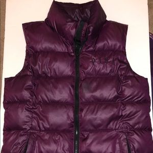 Pink puffy vest zip up with zip pockets size S